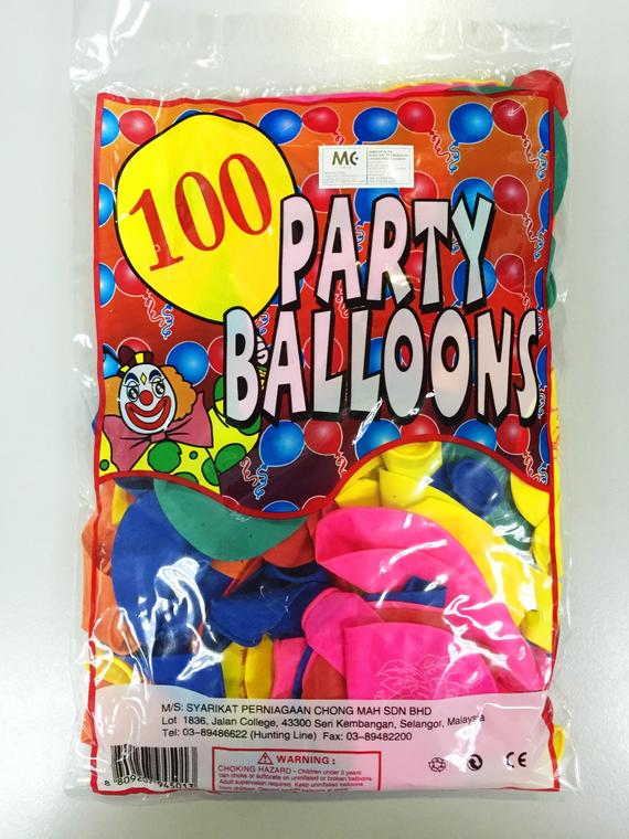 PARTY BALLOONS 100X100'S