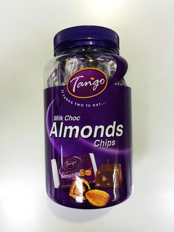 TANGO CHUNKIES ALMONDS CHIPS 18X375G(50S)RM12