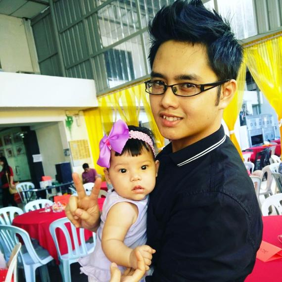 Haziq with little cute girl