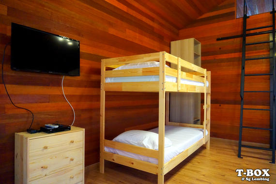 Double Decker Single Beds - Wooden Cottage