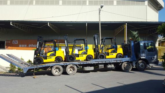 Hyundai forklift deliver to Packaging