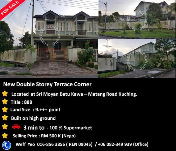 FOR SALE Double Storey Terrace Corner