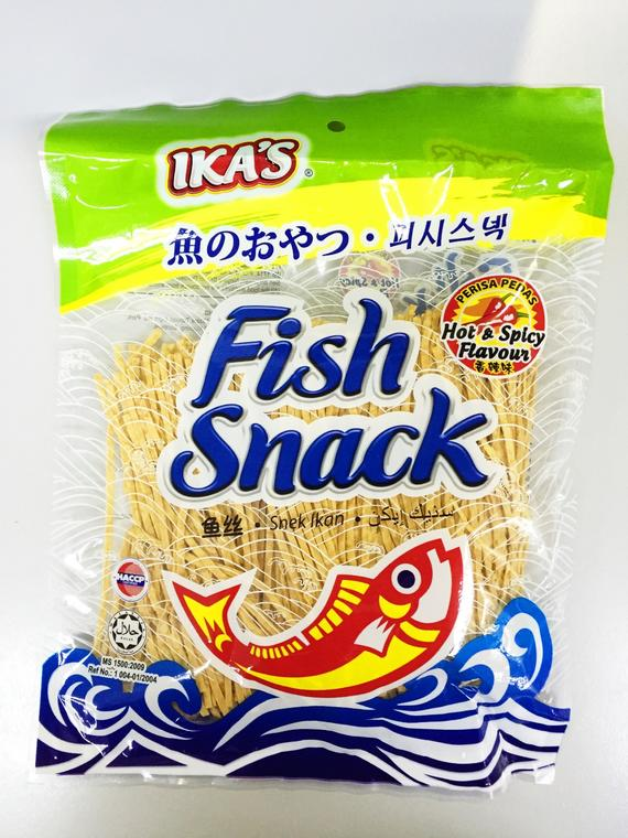 IKA'S FISH SNACK HOT SPICY 3X12'SX150G