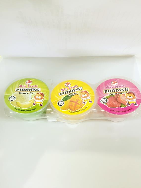 MIX FRUIT PUDDING(LEAN SENG)24X3SX120G
