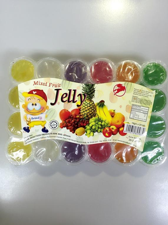 MIX FRUIT JELLY(LEAN SENG)24X24SX19G