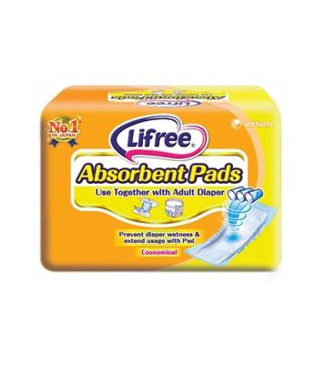LIFREE ABSORBENT PADS 18S (1X8)(YELLOW)