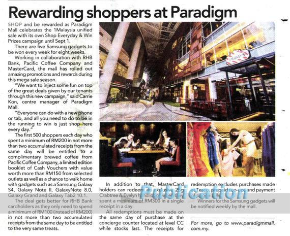 4 Publications (1020) Advertising Paradigm Mall The Star