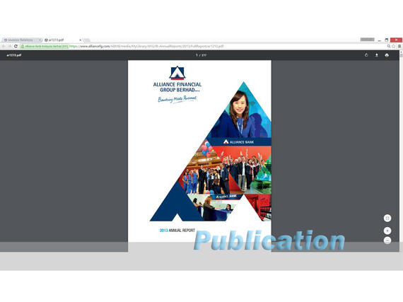 4 Publications (1056) Alliance Bank Annual Report 2013