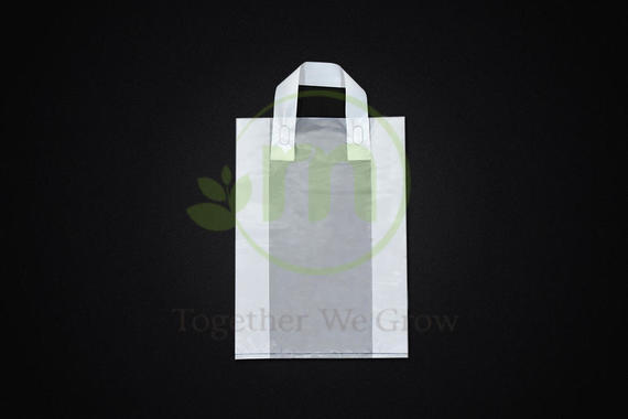 HDPE Translucent Soft Loop Handle Plastic Bag - Size S