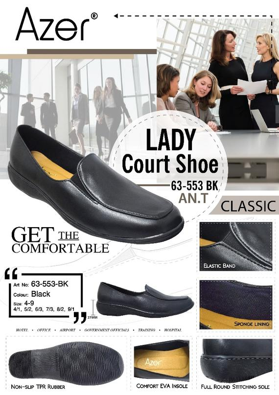 Court Shoe (63-553 BK)
