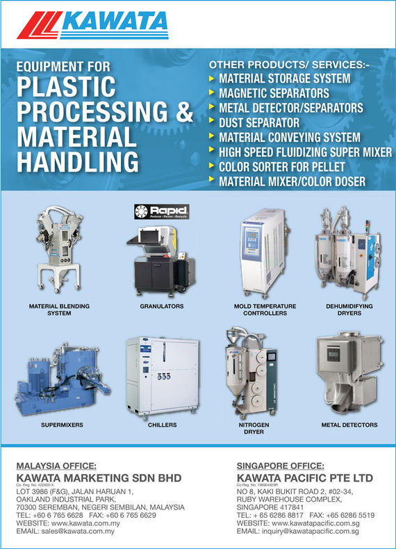 KAWATA MARKETING SDN. BHD._SP19/20 Ads_Plastics - Machinery & Equipment