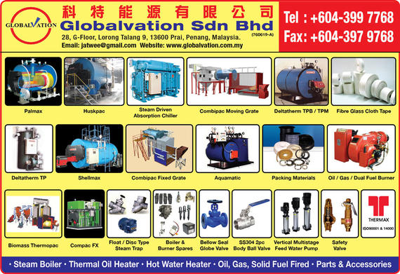 GLOBALVATION SDN BHD_SP19/20 Ads_Boiler - Distributors & Manufacturers