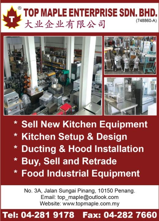 TOP MAPLE ENTERPRISE SDN. BHD._SP20/21_Ads_Kitchen Equipment