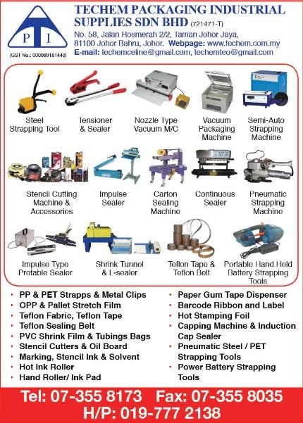 TECHEM PACKAGING INDUSTRIAL SUPPLIES SDN. BHD._SP20/21_Ads_Packaging Machinery