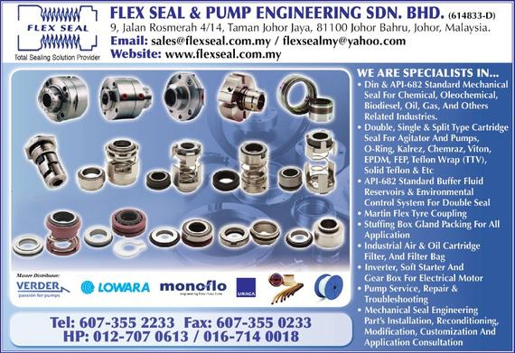 FLEX SEAL & PUMP ENGINEERING SDN. BHD._SP20/21 Ads_Seals - Mechanical