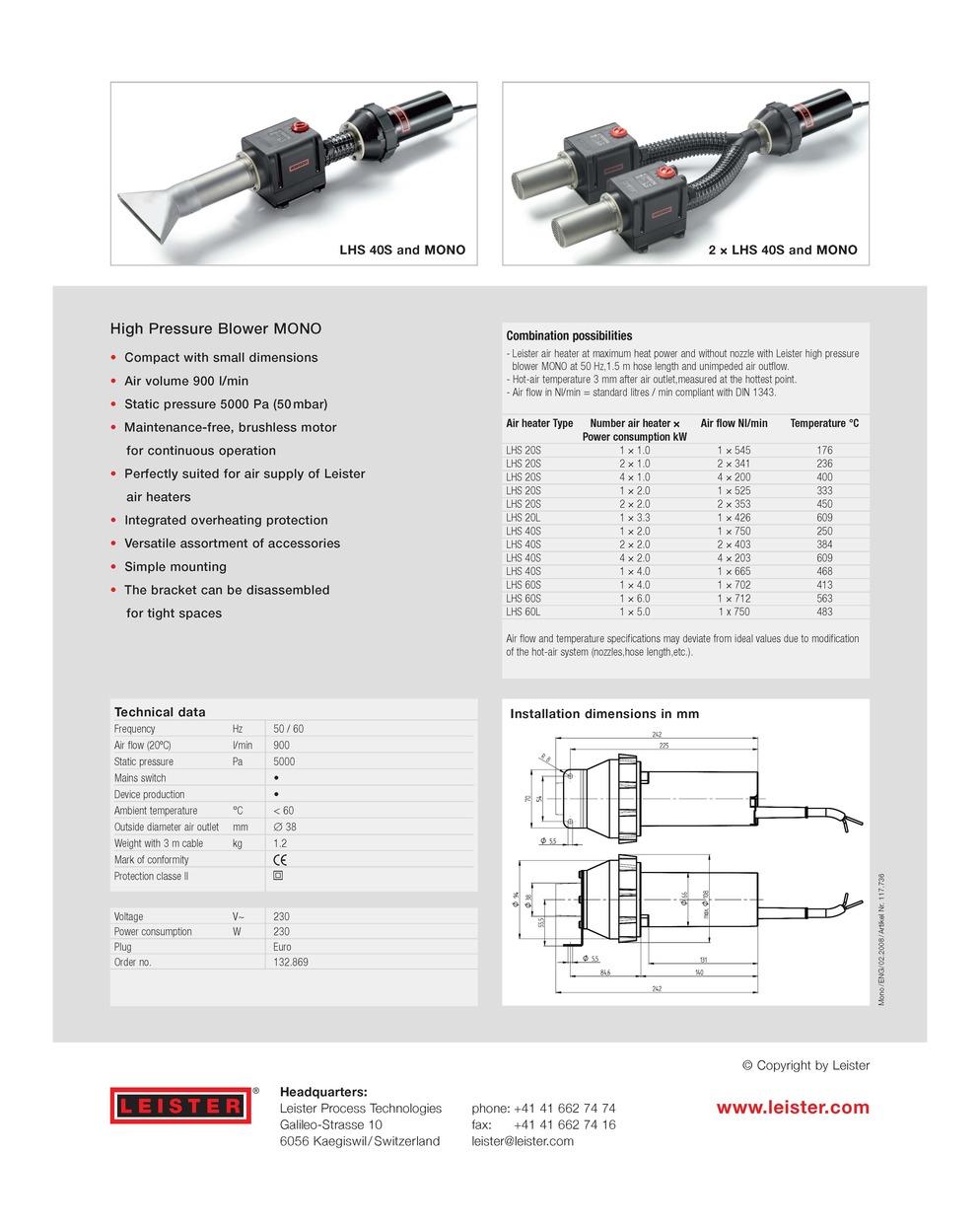 Leister Aso Blower : Mono blower leister process heat sil technology sdn bhd