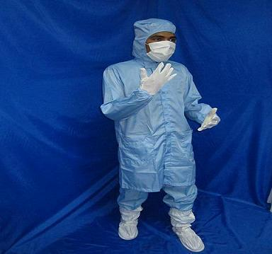 Cleanroom Lintfree Antistatic Smock with Hood