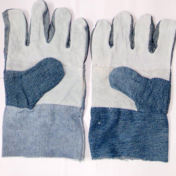 SEMI LEATHER BLUE JEANS GLOVES