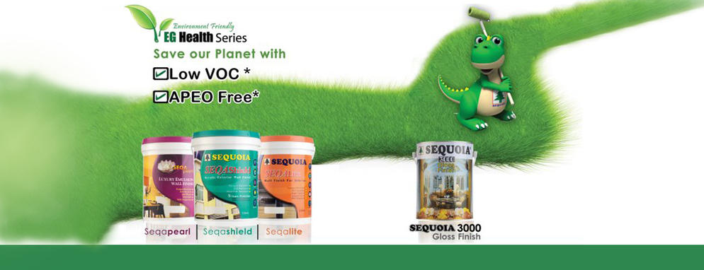 Sequoia colour paint malaysia 1st eco friendly paint for Eco friendly colours for painting