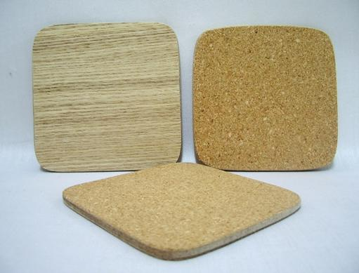 Ash Coaster With Cork