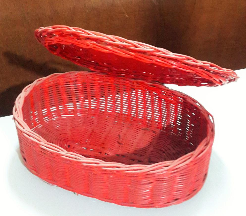 Rattan Basket with Lid (B)