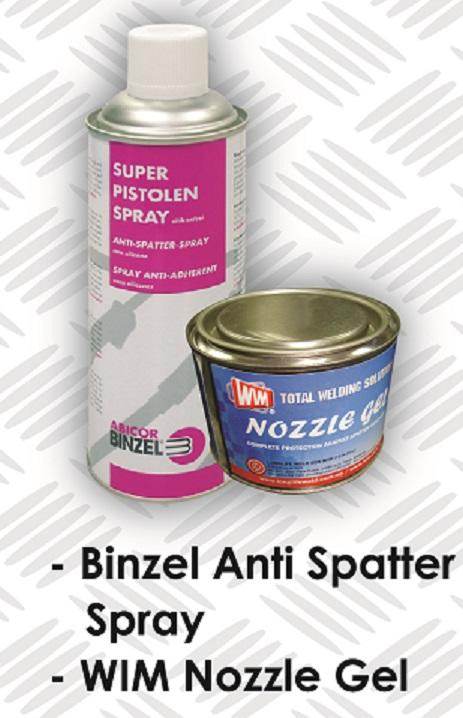 Binzel Anti Spatter Spray and WIM Nozzle Gel