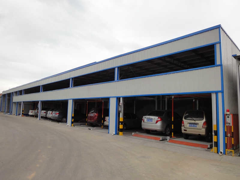 Vertical Horizontal PSH-1+2 Parking System With Outside Packing