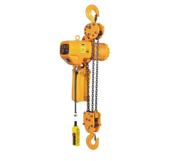 Hkd 2 ton dual speed electric chain hoist power tiek for 1 4 ton chain motor