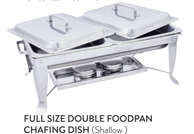 Full Size Double Foodpan Chafing Dish (Shallow)