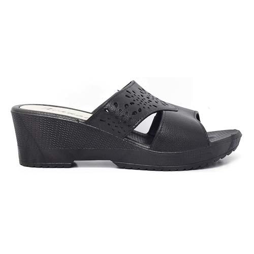 PVC Women Slipper (P 312-BK) Black