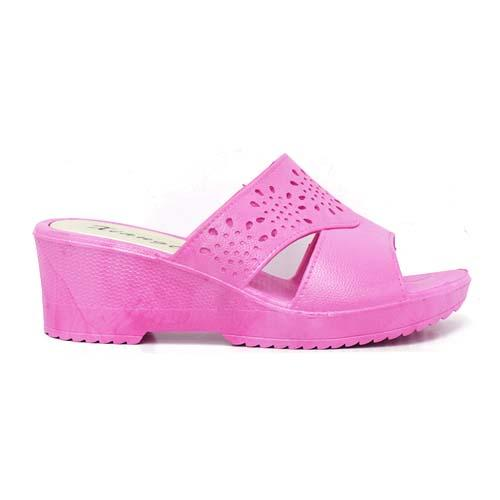 PVC Women Slipper (P 312-P) Pink
