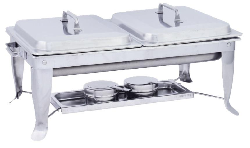 Full Size Double Foodpan Chafing Dish (Foldable Stand)