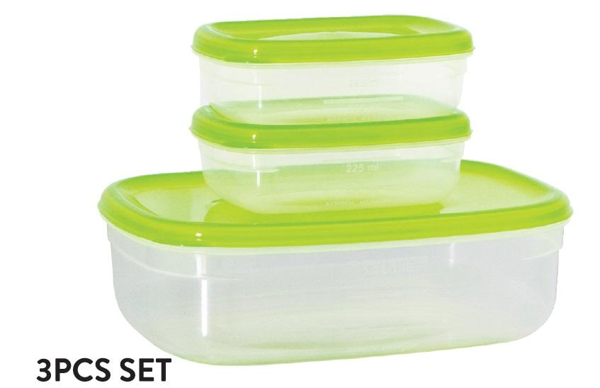Fresh Air Tight Food Container 3pcs Set