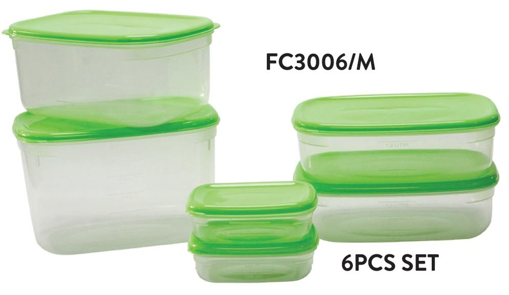 Fresh Air Tight Food Container 6pcs Set