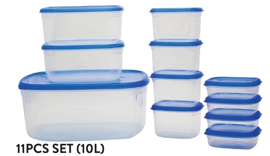 Fresh Air Tight Food Container 11pcs set (10L)