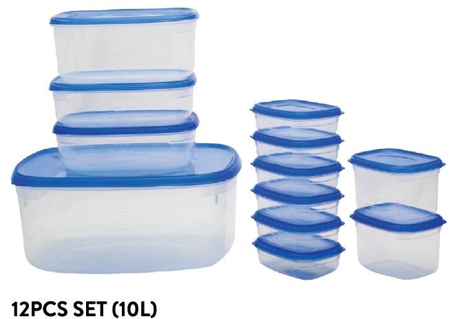 Fresh Air Tight Food Container 12pcs Set (10L)