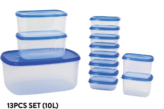 Fresh Air Tight Food Container 13pcs Set (10L)