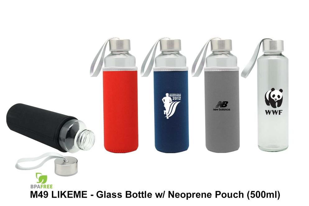 M49 Likeme - Glass Bottle w/Neoprene Pouch