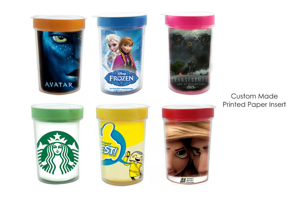 M19-2 U Mug - Double Wall Plastic Mug with Lid Custom Full Color Printed Paper Insert