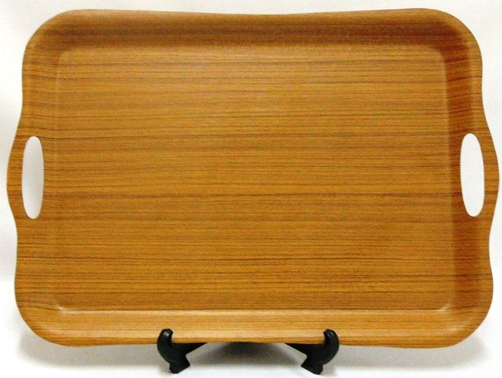 1147~1149 Wave Rectangular Tray(Teak)