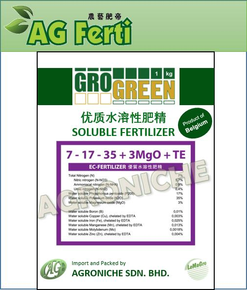 Grogreen Soluble Fertilizer - Fruit 7-17-35