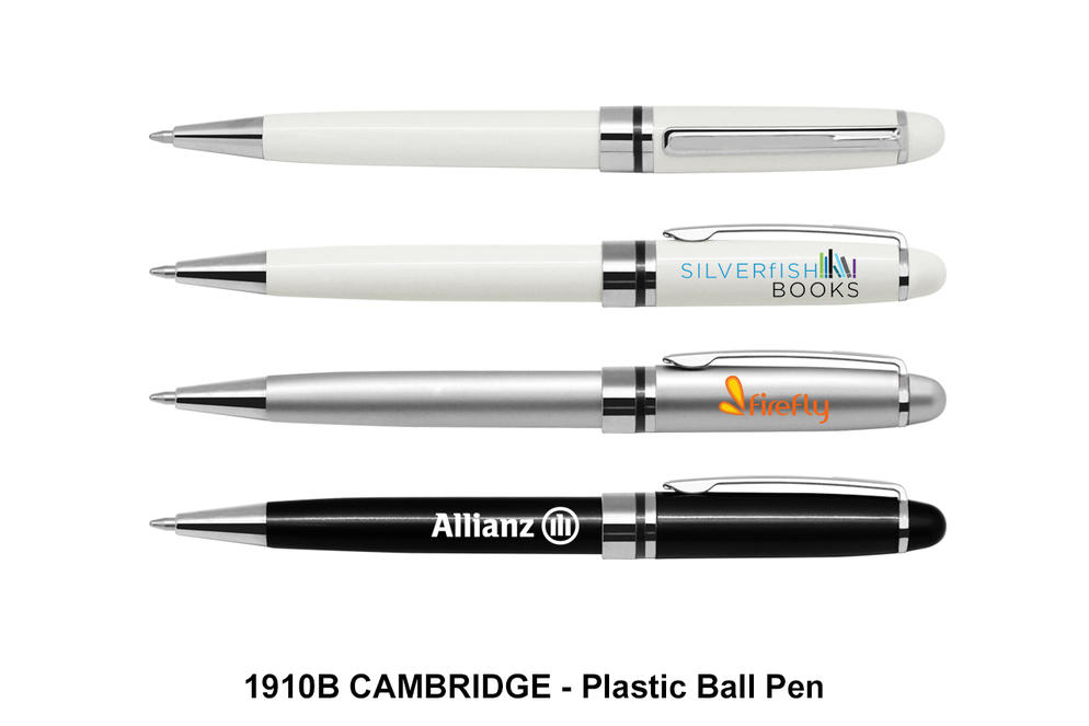 CAMBRIDGE - Plastic Ball Pen (Blue Ink)