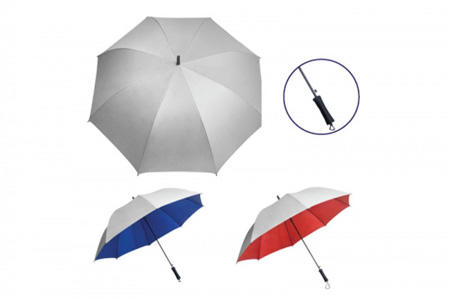 "27"" Silver Coated Auto Umbrella"