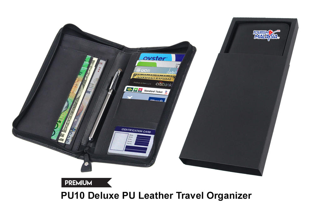 PU10 Deluxe PU Leather Travel Organizer