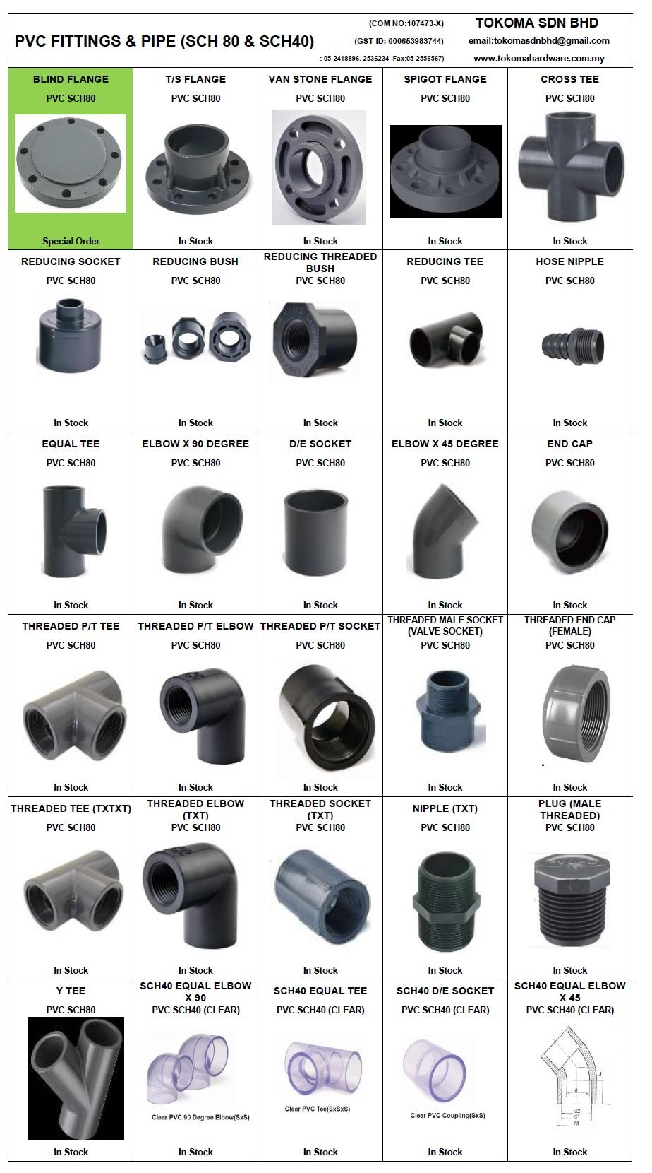 Upvc schedule fittings pipe