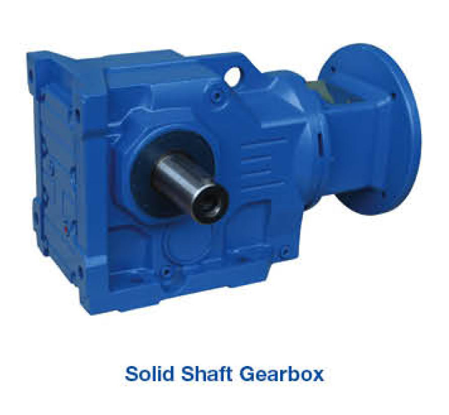 Gearbox - Solid Output & IEC Adaptor