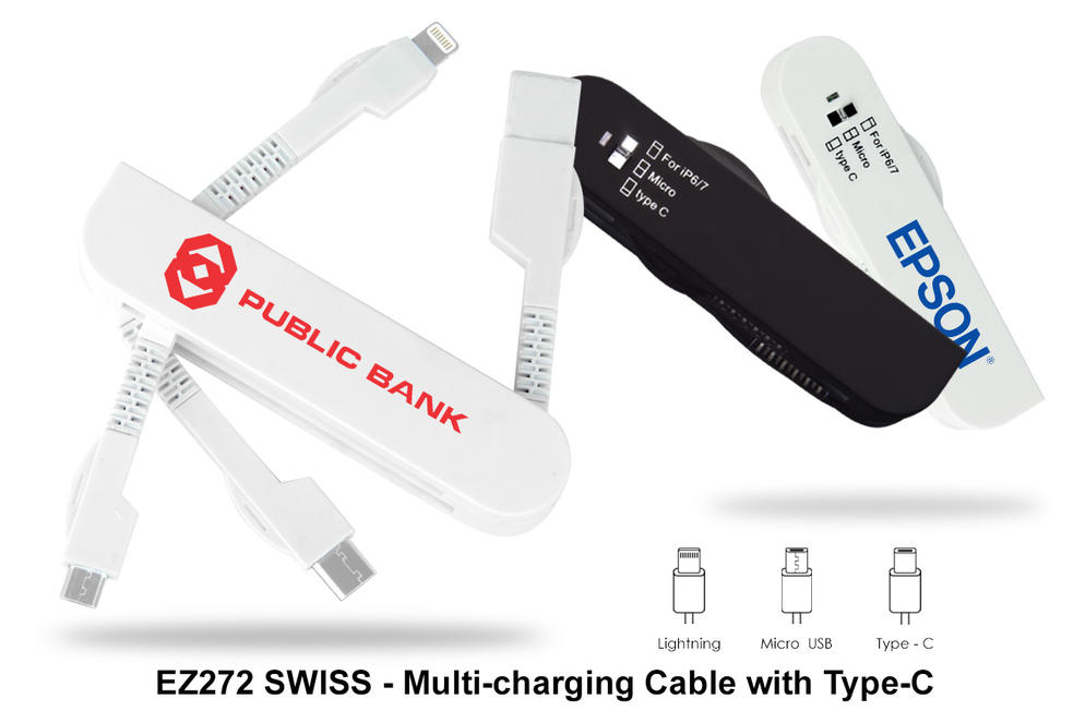 EZ272 SWISS - Multi-Charging Cable with Type-C