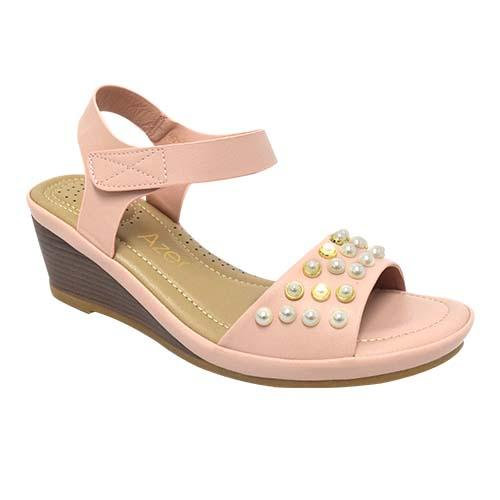 Azer - Ankle Strap Wedge Ladies shoe (90-718)