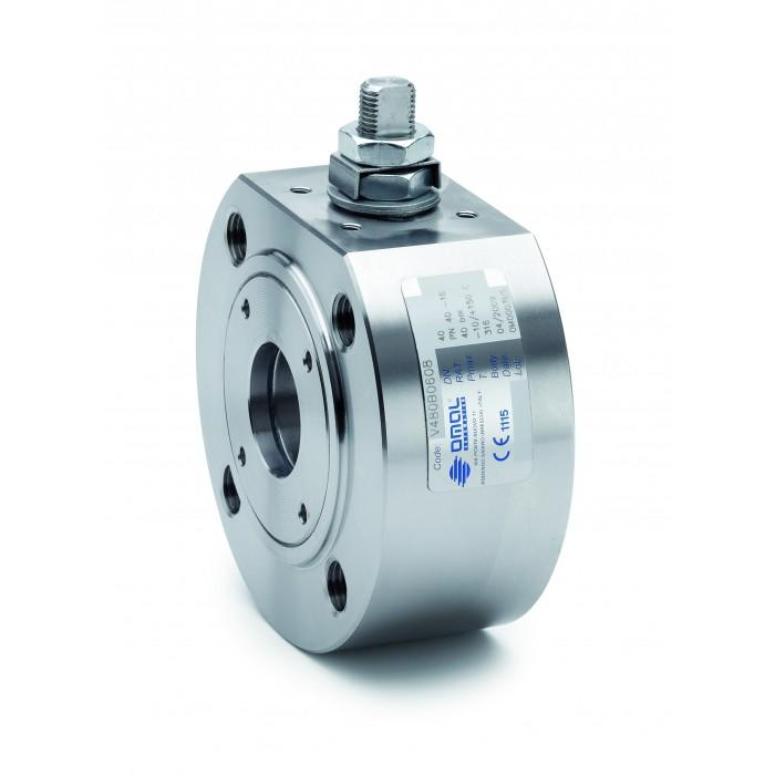 OMAL stainless steel wafer ball valve