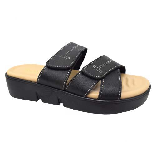 AZER - LADIES FLAT SANDALS (19-1163 BK) BLACK